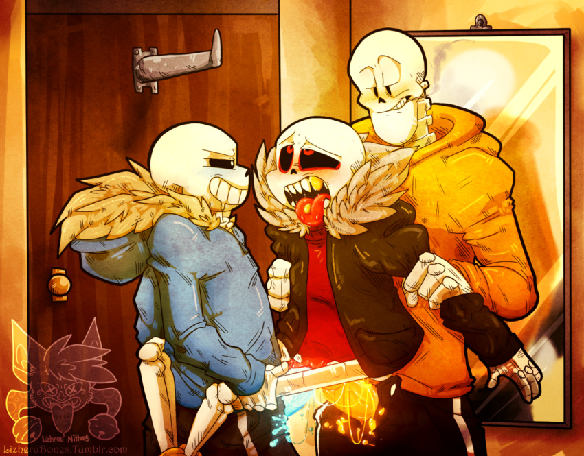 sans underfell papyrus undertale x Sucy my little witch academia