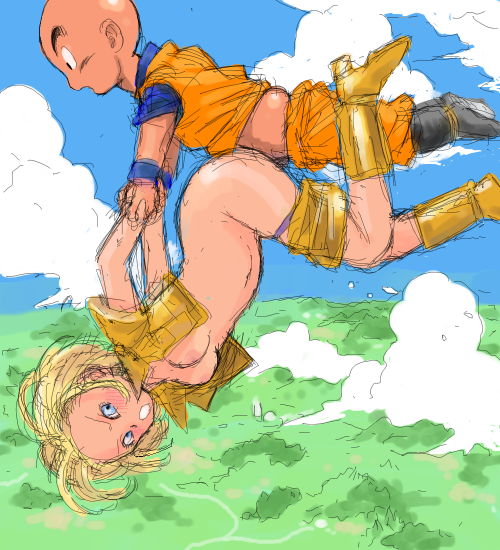 18 and dbz krillin android Devil may cry trish concept art