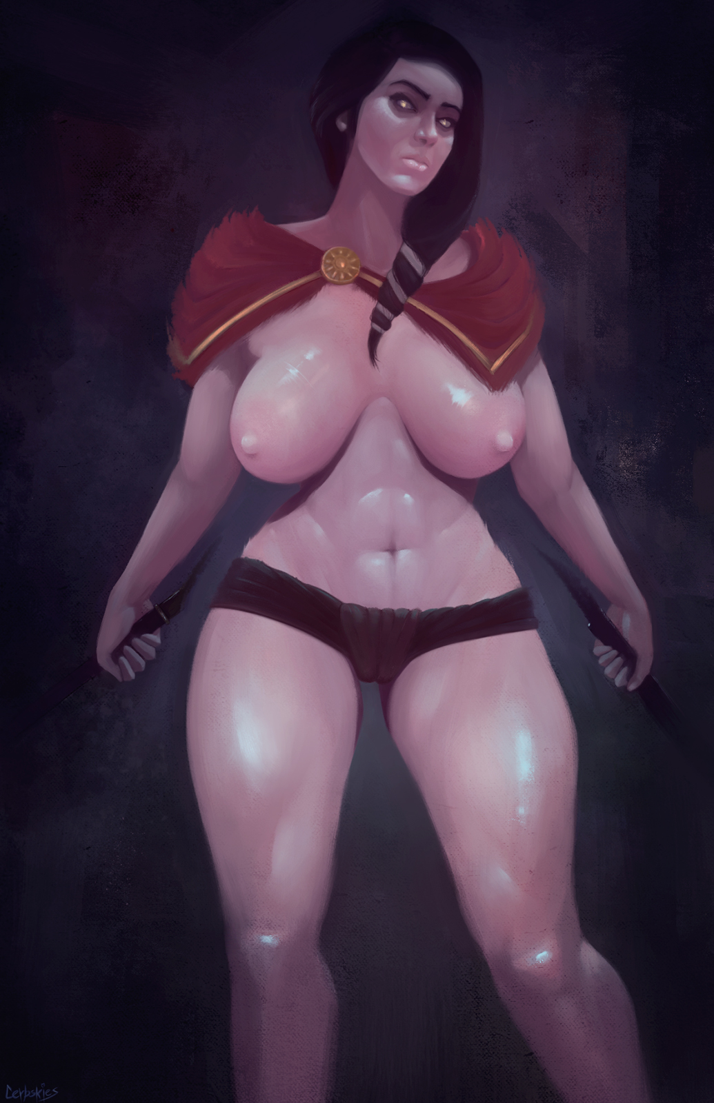 kassandra odyssey assassin's creed naked Riven of a thousand voices art